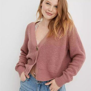 ⚡SALE⚡NWT Aerie Cropped Cardigan in 'Meadow Bound'